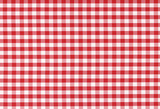 Fototapety Classic linen red and white checked tablecloth texture