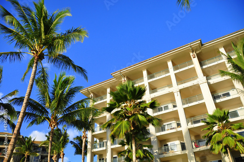 View of a luxury hotel, Kaanapali, Maui, Hawaii
