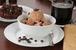 Coffee flavored ice cream