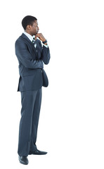 Young African American Male Model on Isolated