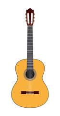 Acoustic guitar. Vector illustration.