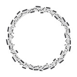 Music notes in the form of a circle. Vector illustration.