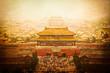 Forbidden city vintage view, Beijing, China - 43408261