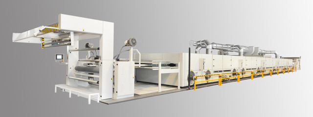 DILTEX FABRIC DRYING AND HEAT SETTING MACHINE