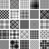 Fototapety B&W big plaid pattern set