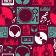 Music icons seamless pattern - 43411408