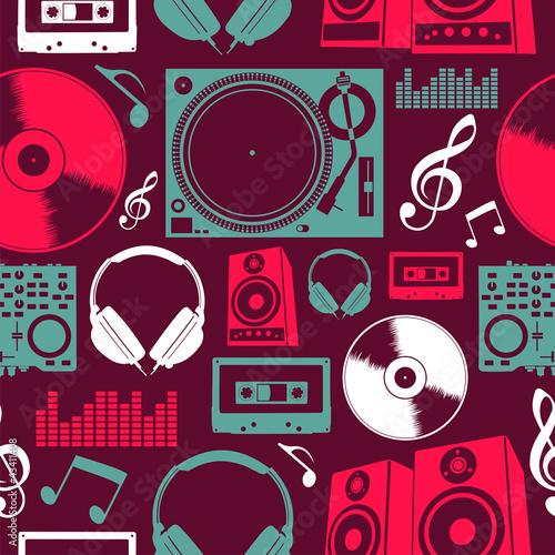 wzor-muzyki-ikony