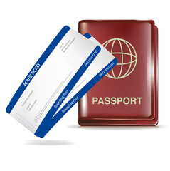 passport and two plane tickets