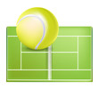 tennis field and ball