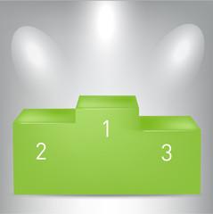 green pedestal