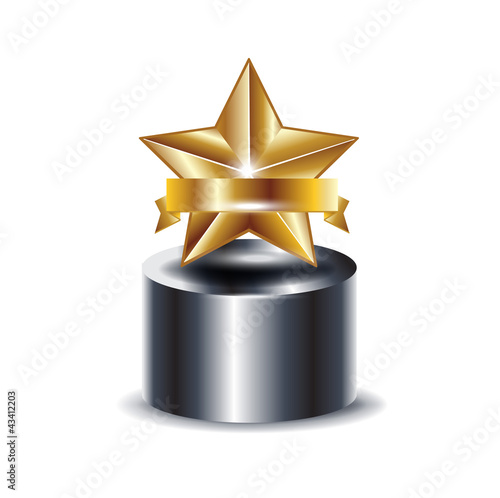 trophy with golden star