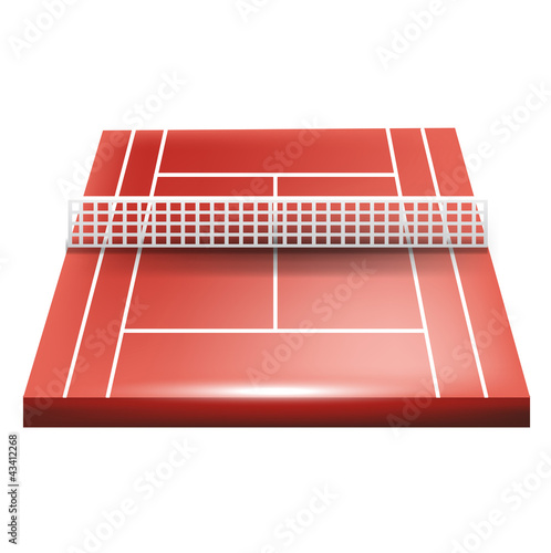 single tennis court
