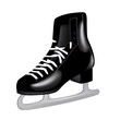 single black ice skate isolated