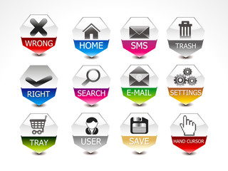 abstract glossy web icon set