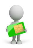 3d person - sim card