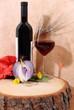 Vino rosso con cipolla rossa
