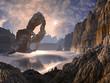 Derelict Spaceship Crashed on Distant World