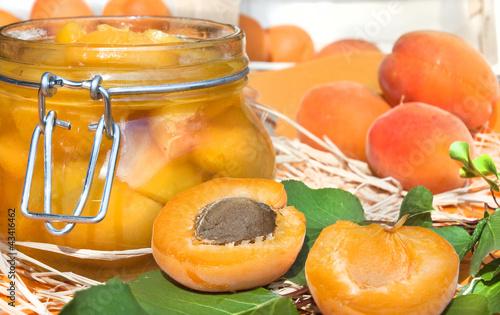 Aprikosen eingelegt
