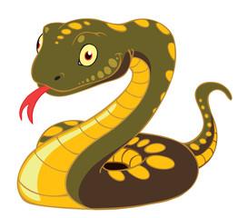 A cartoon snake.