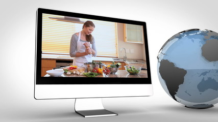 cooking on devices with an earth courtesy of Nasa.org