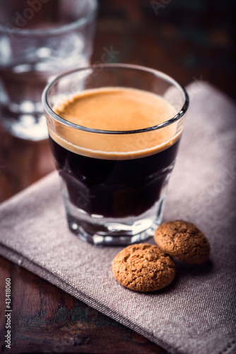 Glass of espresso crema