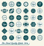 Vector Set: Finest Quality Labels