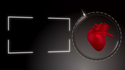 Video of a heart beating against black background