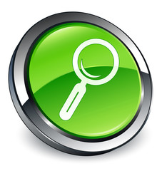 Search icon 3D green button