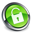 Unlock icon 3D green button