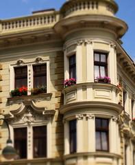 Renovierte Hausfassade