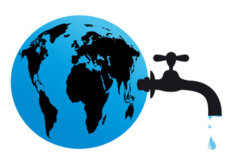 Earth water tap supply