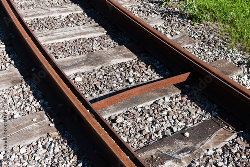 Railway rail road track