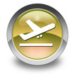 """Yellow Glossy Pictogram """"Airport Departures"""""""