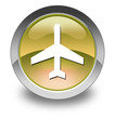 "Yellow Glossy Pictogram ""Airport / Airplane"""