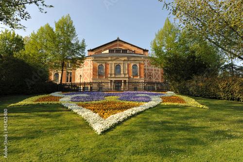 canvas print picture Festspielhaus Bayreuth, Richard Wagner, Bayern, Bayreuth
