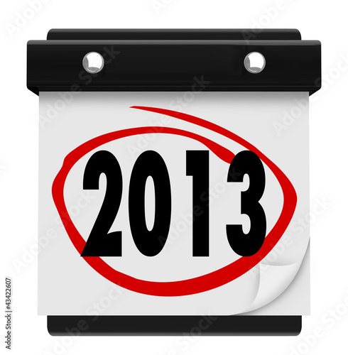 2013 New Year Date Day on Calendar Holiday Schedule
