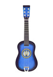 Blue Toy Ukulele Size Guitar Isolated