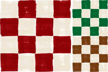 Rough, seamless checker pattern