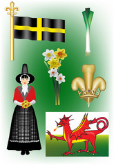 A collection of Welsh Vectors
