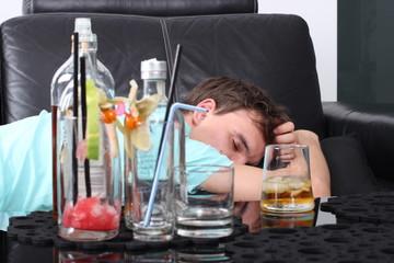 Alkoholik w depresji