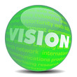 VISION MARKETING sphere ball cloud globe GREEN