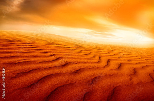 Foto op Canvas Baksteen desert landscape,sunset