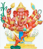 God of success 1 of 32 posture. Indian or Hindu God Ganesha avat
