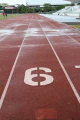 Running Track wet