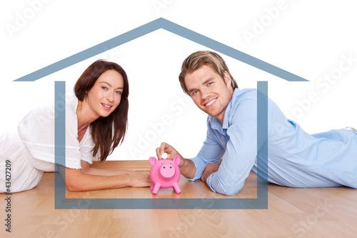 paar liebe haus geld sparen