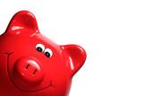 Sparschwein rot