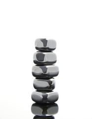 Stacked reflective stones