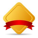 Rhombus blank award emblem, vector illustration poster