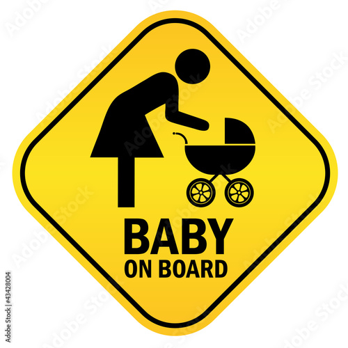 Baby on board illustration