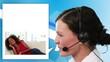 Women calling a help center